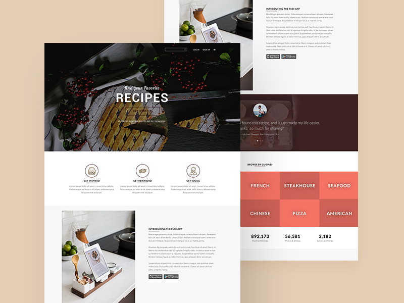 Restaurant food landing page template free resource freebie supply restaurant food landing page template free resource forumfinder Gallery