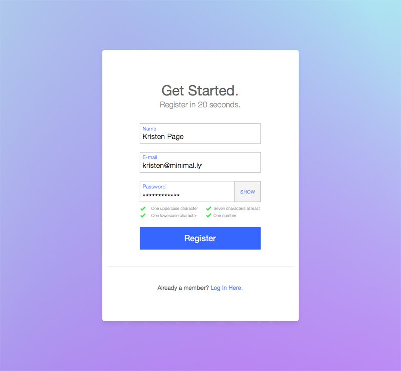 Sign Up  Registration Form Made In Sketch  Freebie Supply