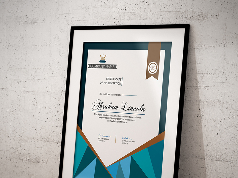 Simple Certificate Template Free Psd Freebie Supply