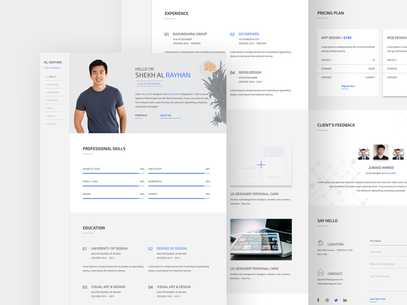 Swift Personal CV/Resume Template   Free Resource