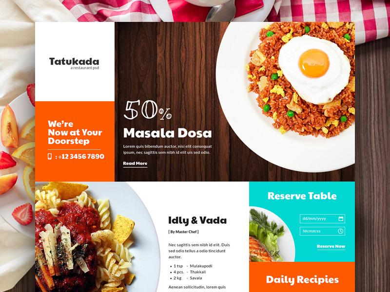 14 free food ui kits for photoshop sketch adobe experience design tatukada food magazine kit photoshop forumfinder Gallery