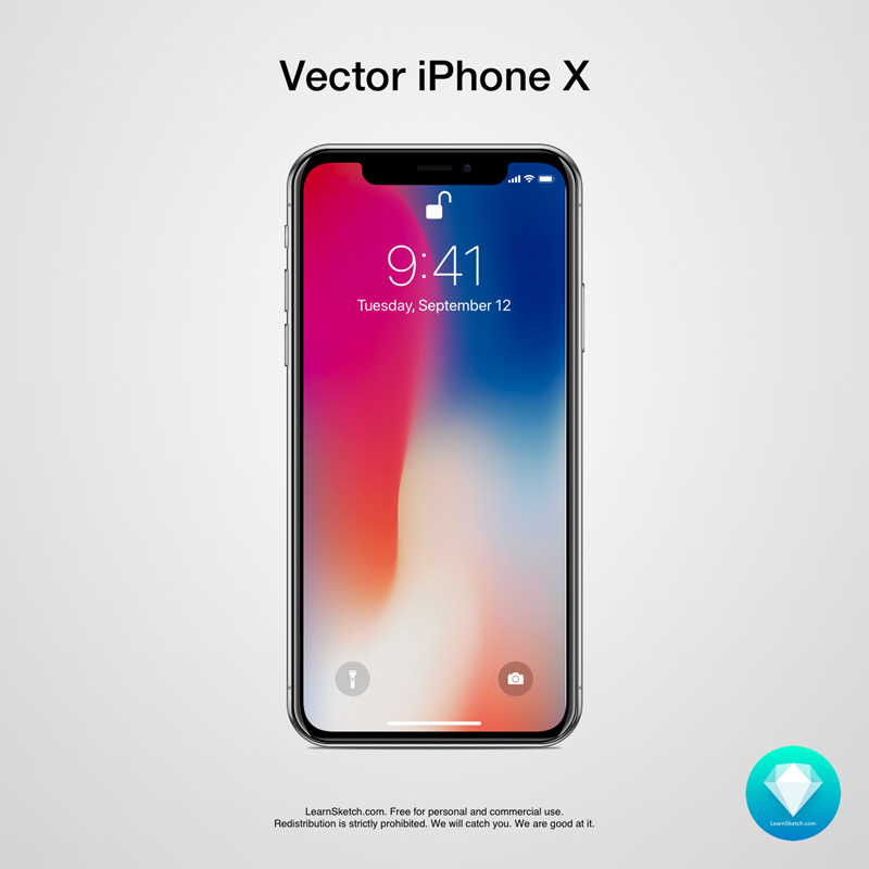 Vector iPhone X - Freebie Supply