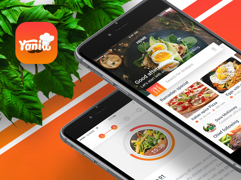 Yonia food recipes ios mobile app design free psd freebie supply yonia food recipes ios mobile app design free psd forumfinder