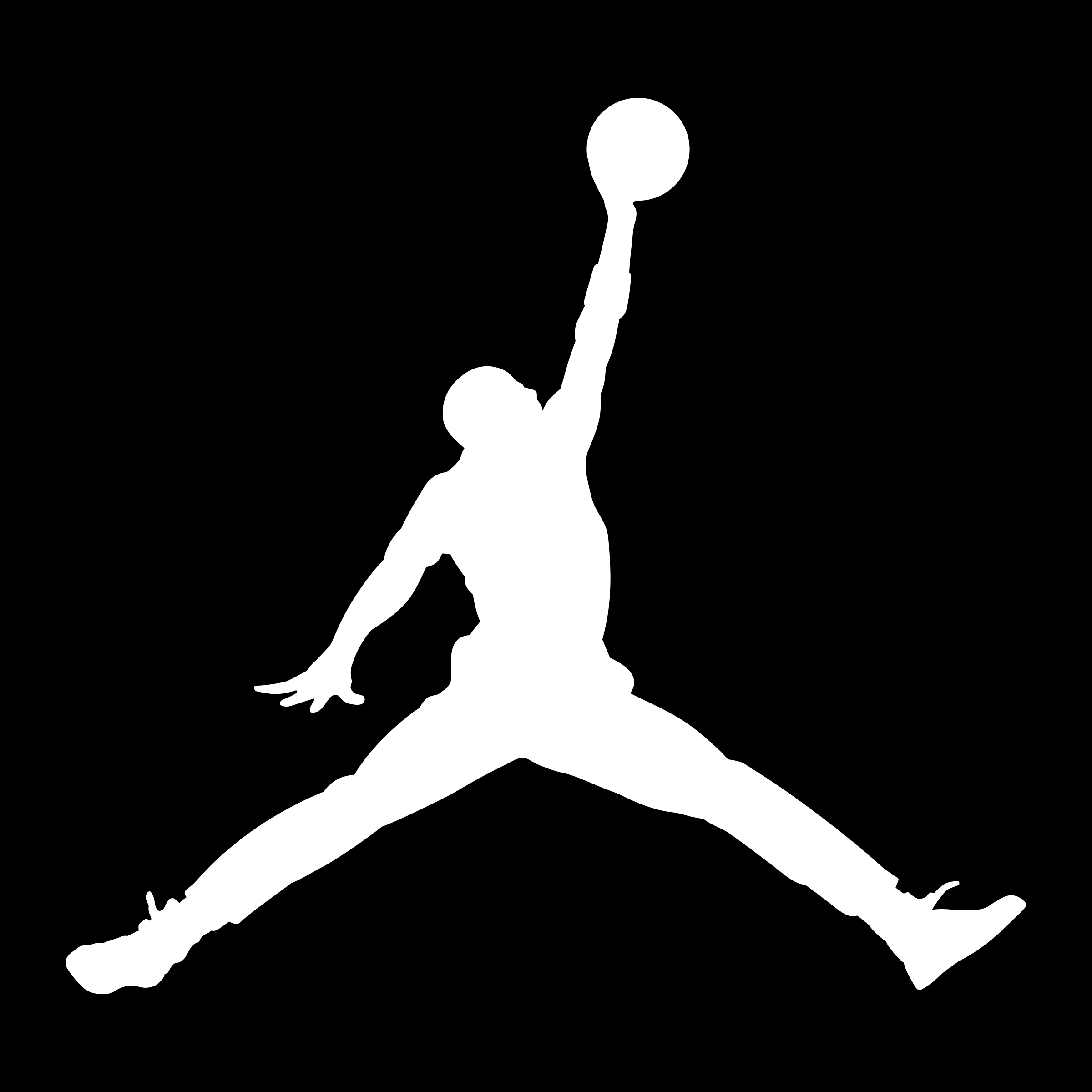 Air Jordan Logo Black And White
