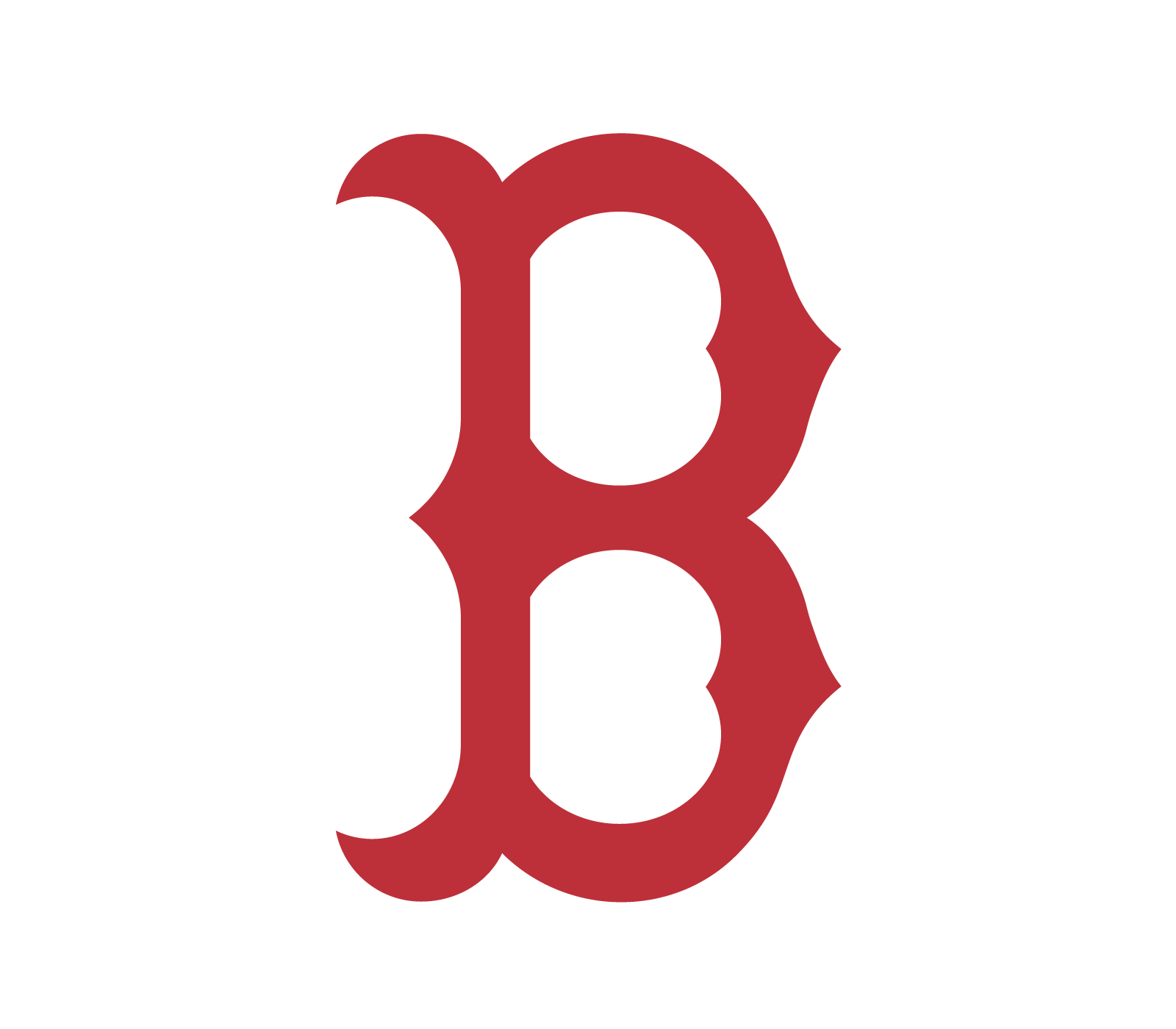 boston red sox b logo vector real clipart and vector