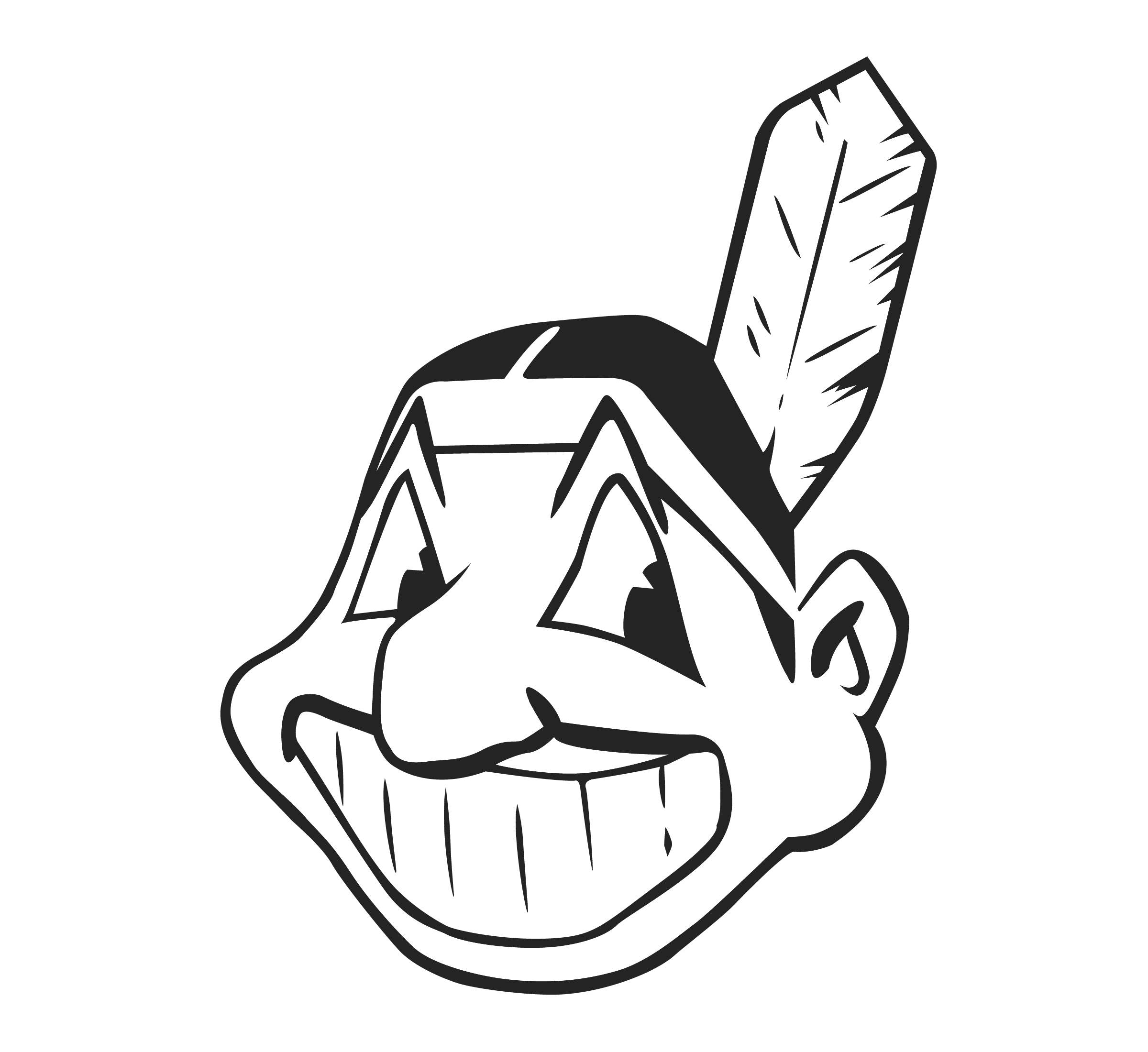 Cleveland indians logo png transparent svg vector freebie supply cleveland indians logo black and white biocorpaavc Choice Image
