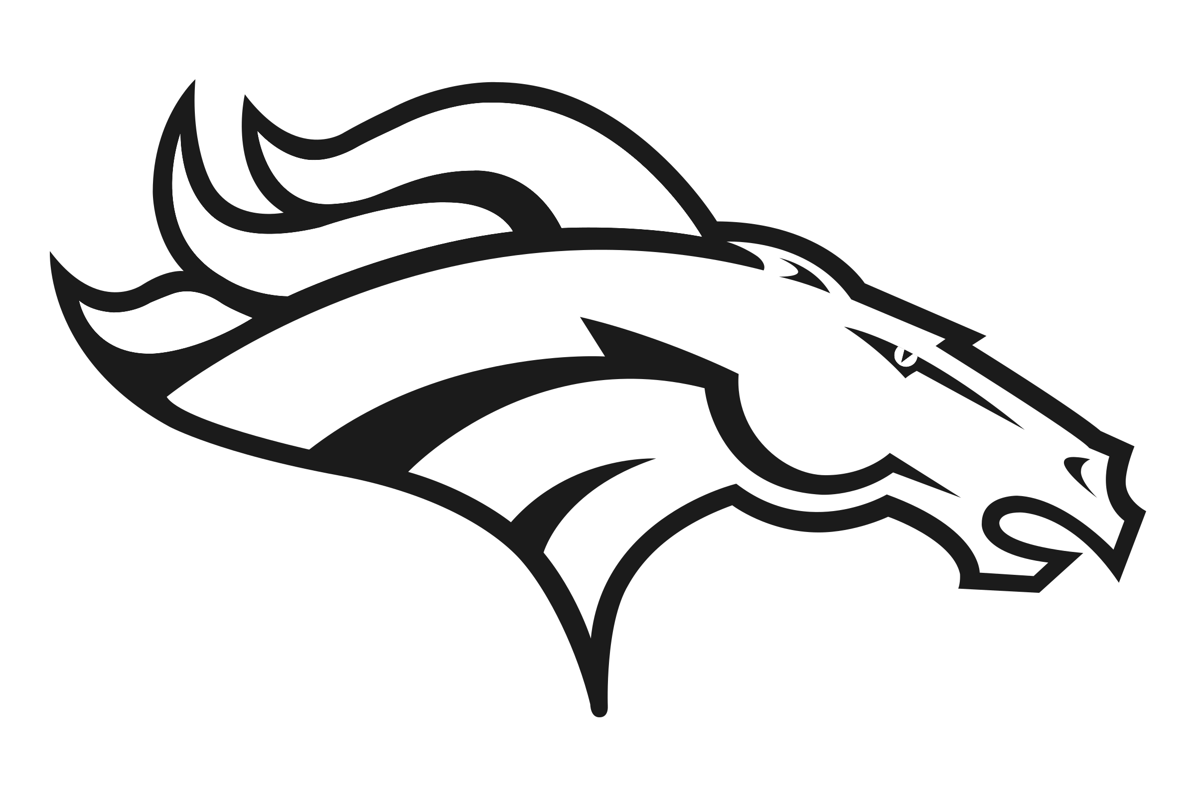 Denver broncos logo png transparent svg vector freebie for Denver broncos helmet coloring page