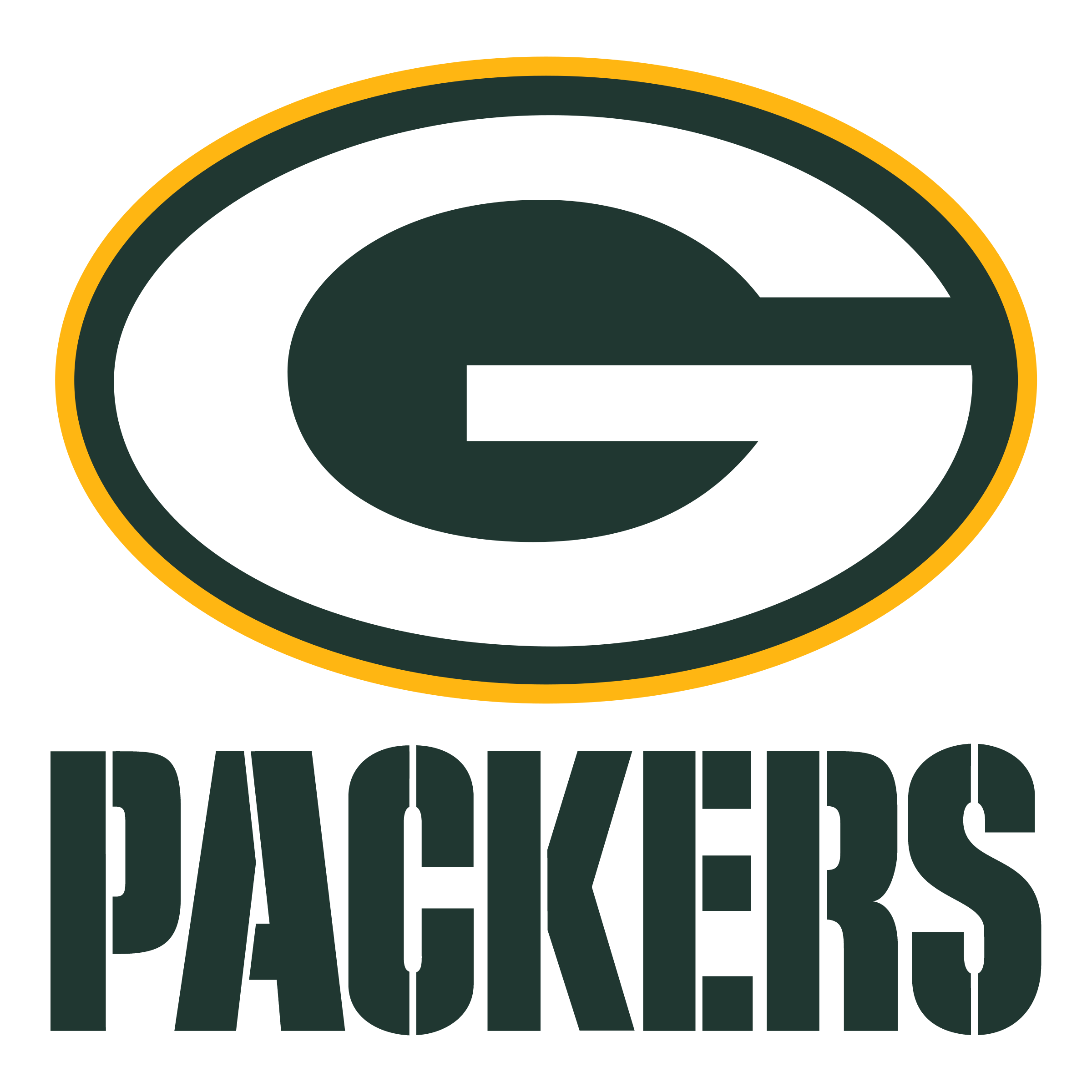 Bright image intended for green bay packers printable logo