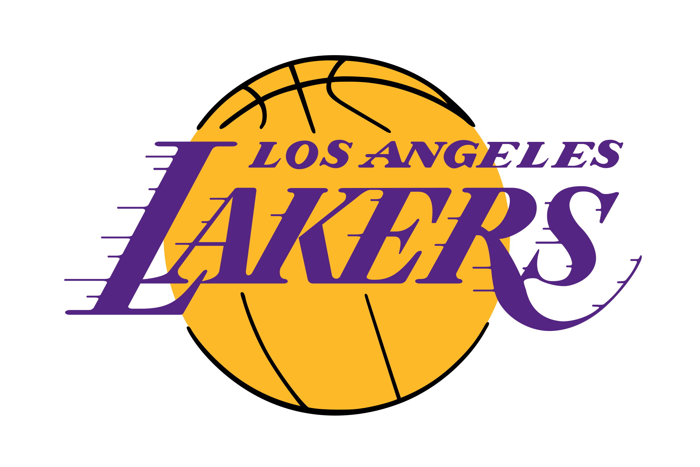 Los Angeles Lakers Logo Png Transparent Svg Vector Freebie Supply Rh Freebiesupply Com Black And