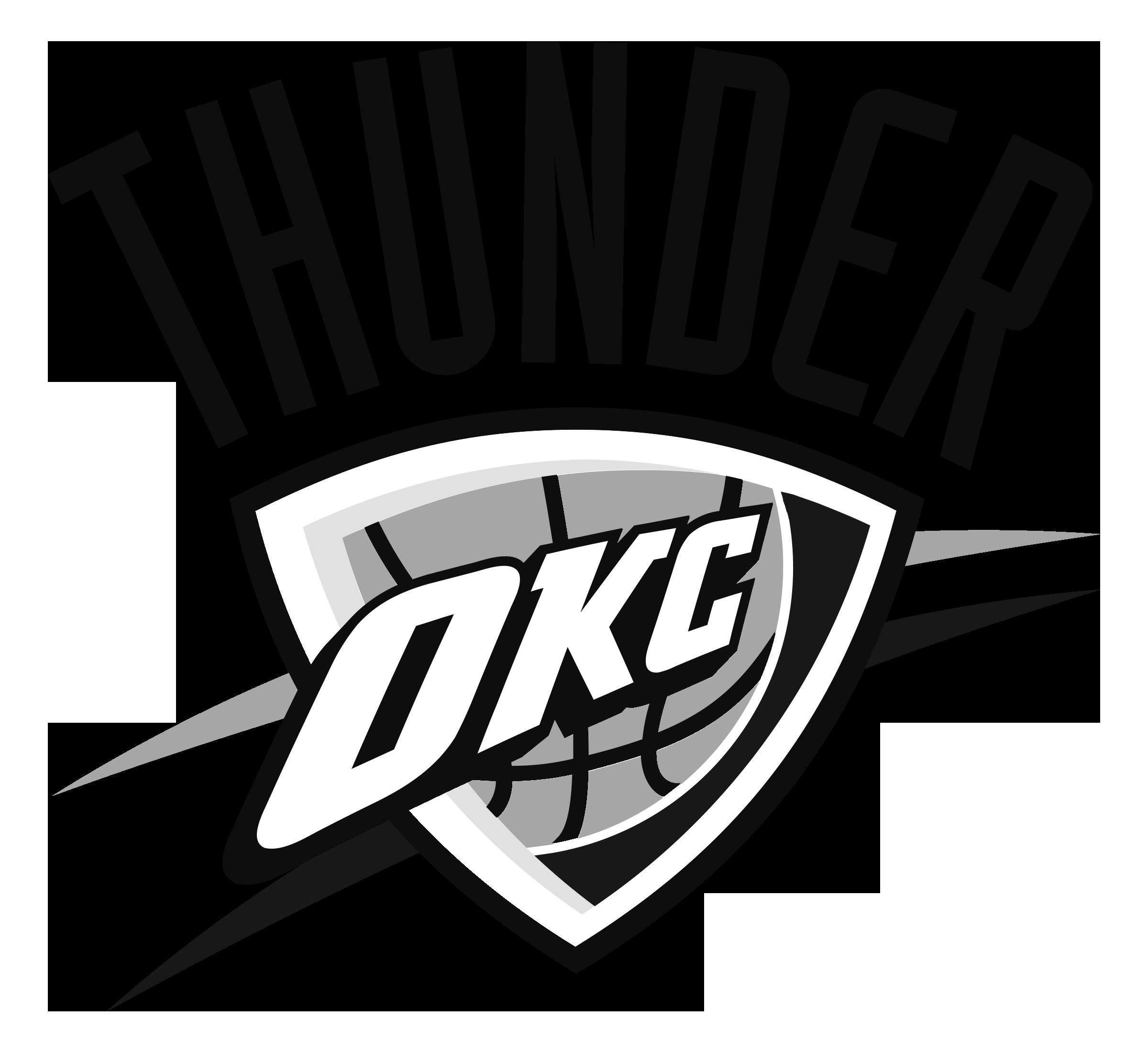 Oklahoma City Thunder Logo Black And White