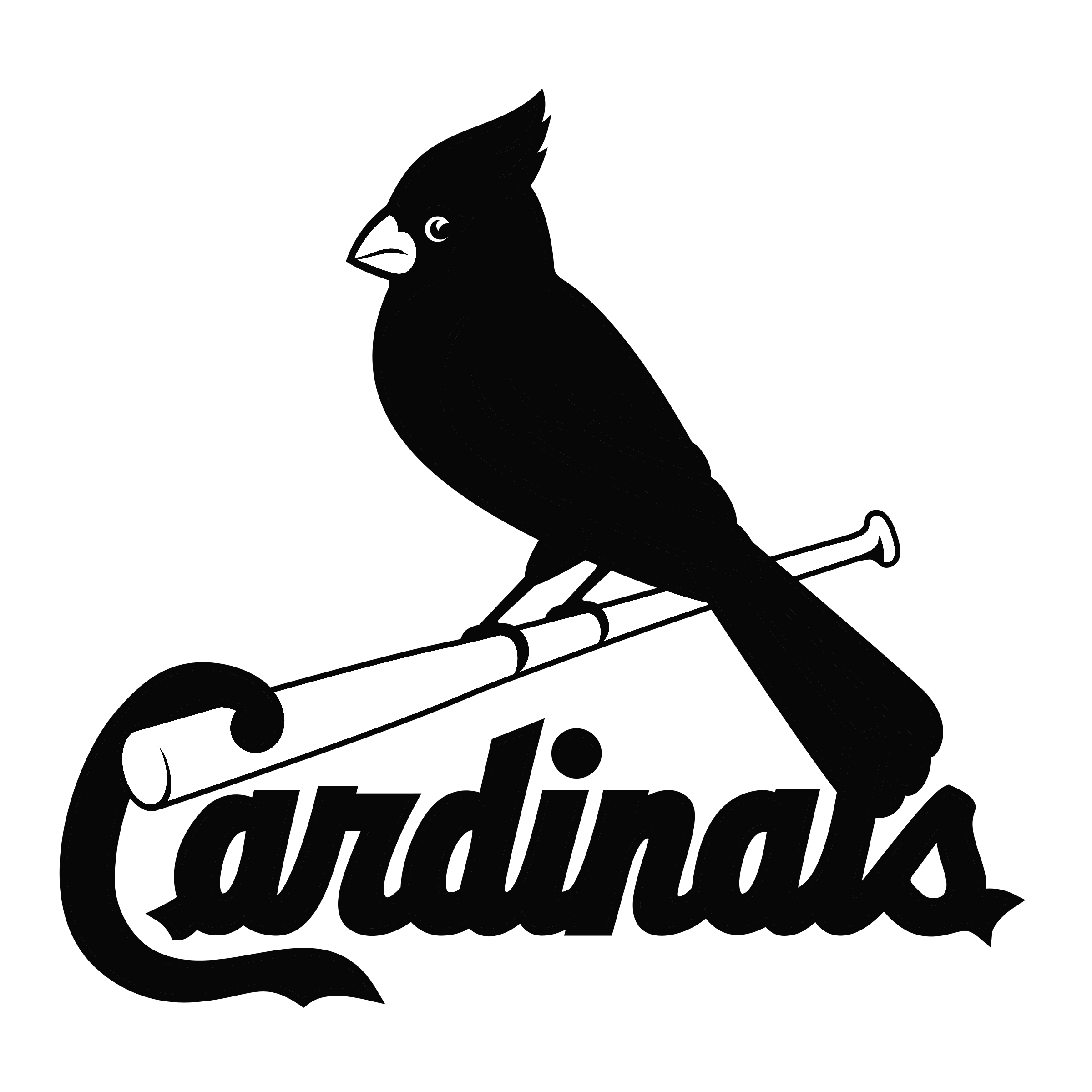 st louis cardinals logo black