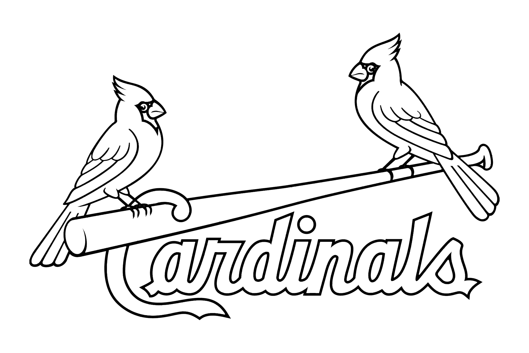 st louis cardinals logo stencil