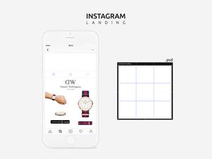 instagram template mockups free to download freebie supply. Black Bedroom Furniture Sets. Home Design Ideas