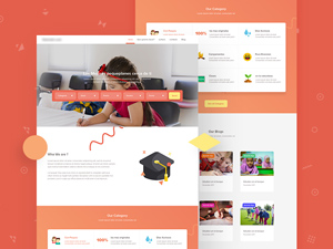 Free psd website templates freebie supply school website template psd pronofoot35fo Choice Image