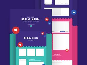 social media templates facebook instagram mockups - Social Media Templates Free
