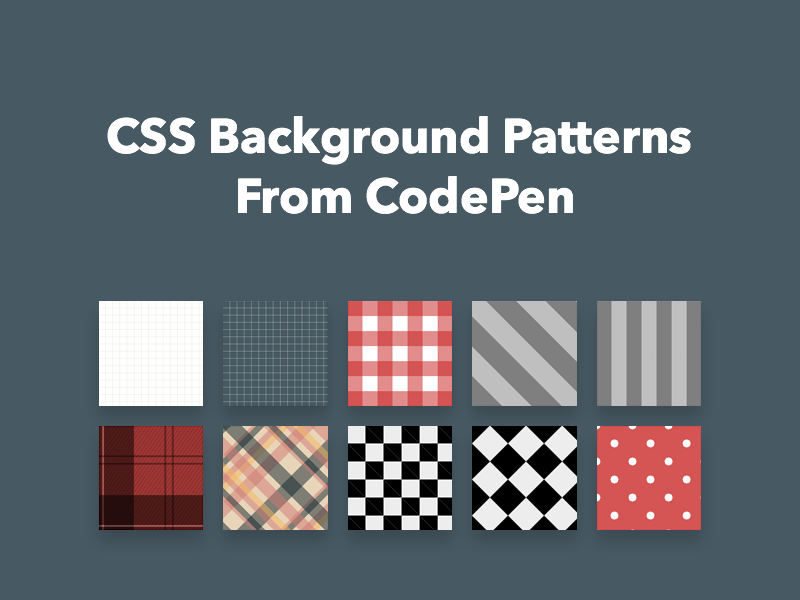 Css background patterns from codepen freebie supply malvernweather Images