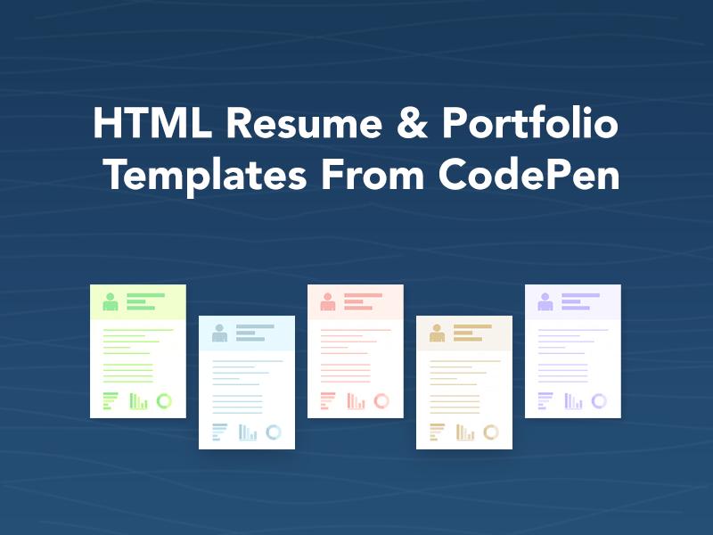 はてなブックマーク html resume portfolio templates from codepen
