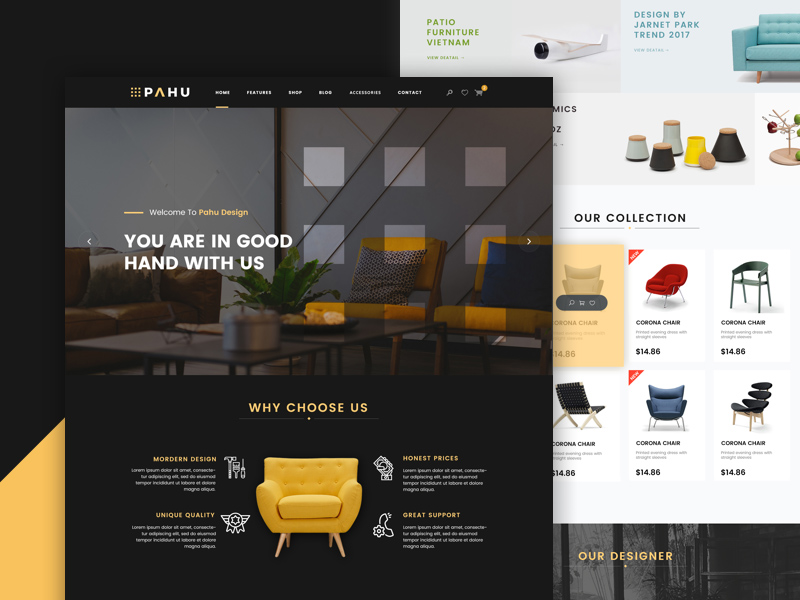 Interior Design Website Template PSD Freebie Freebie Supply Extraordinary Interior Design Web Templates