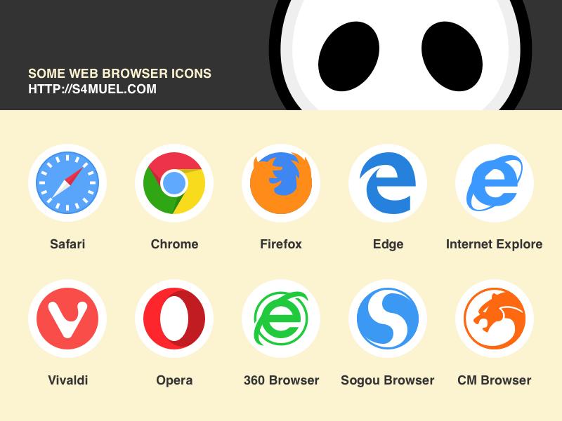 Web Browser Symbols