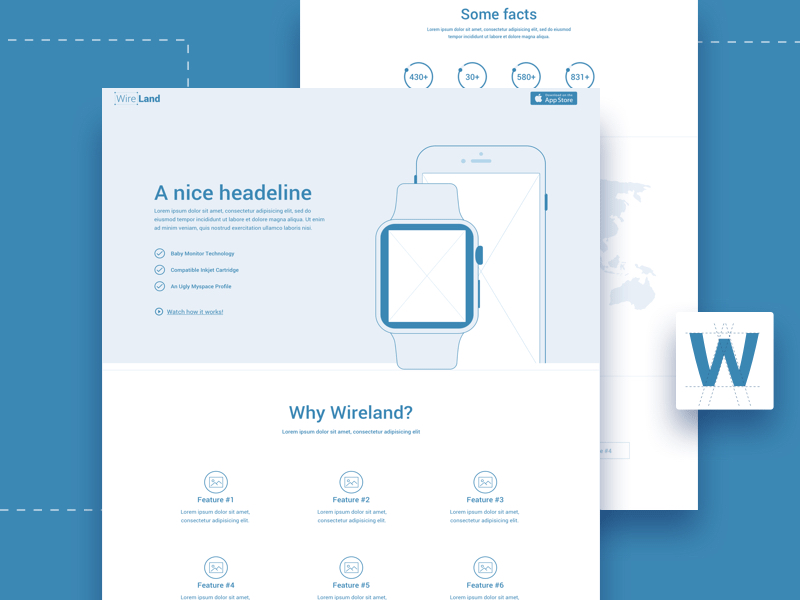 sketch web template