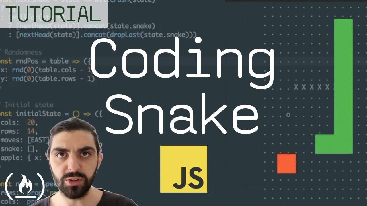 How to code the classic game Snake and play it in your browser, using functional JavaScript - a full tutorial with code examples