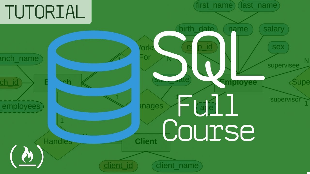 A Beginner's Guide to SQL and Databases - A Full Course For Beginners