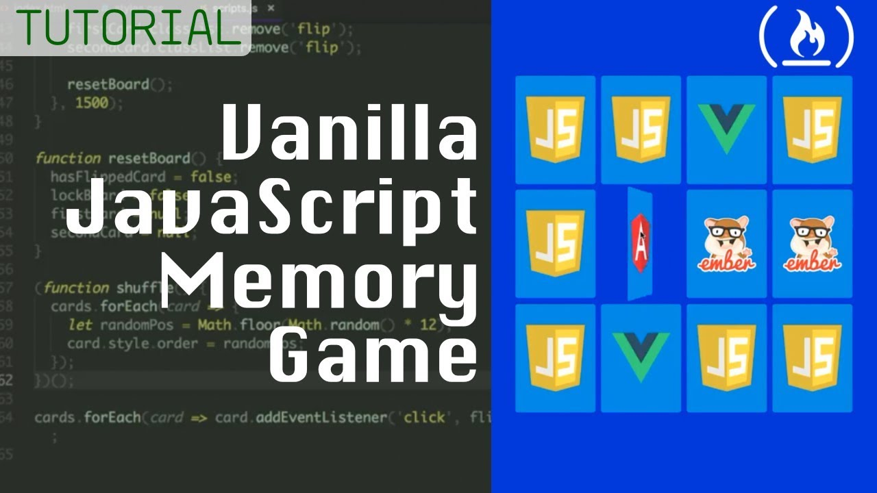 Vanilla JavaScript Tutorial: How to build a memory matching game