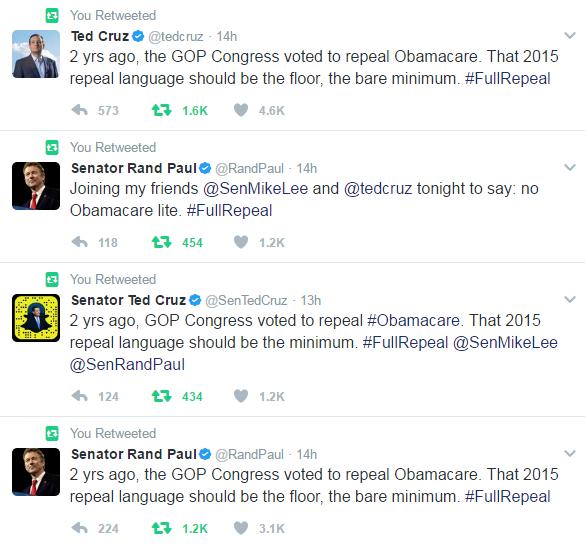 ObamaCare Tweet 1