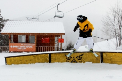 Whiteface Bear Super Pipe and 79 Rail park
