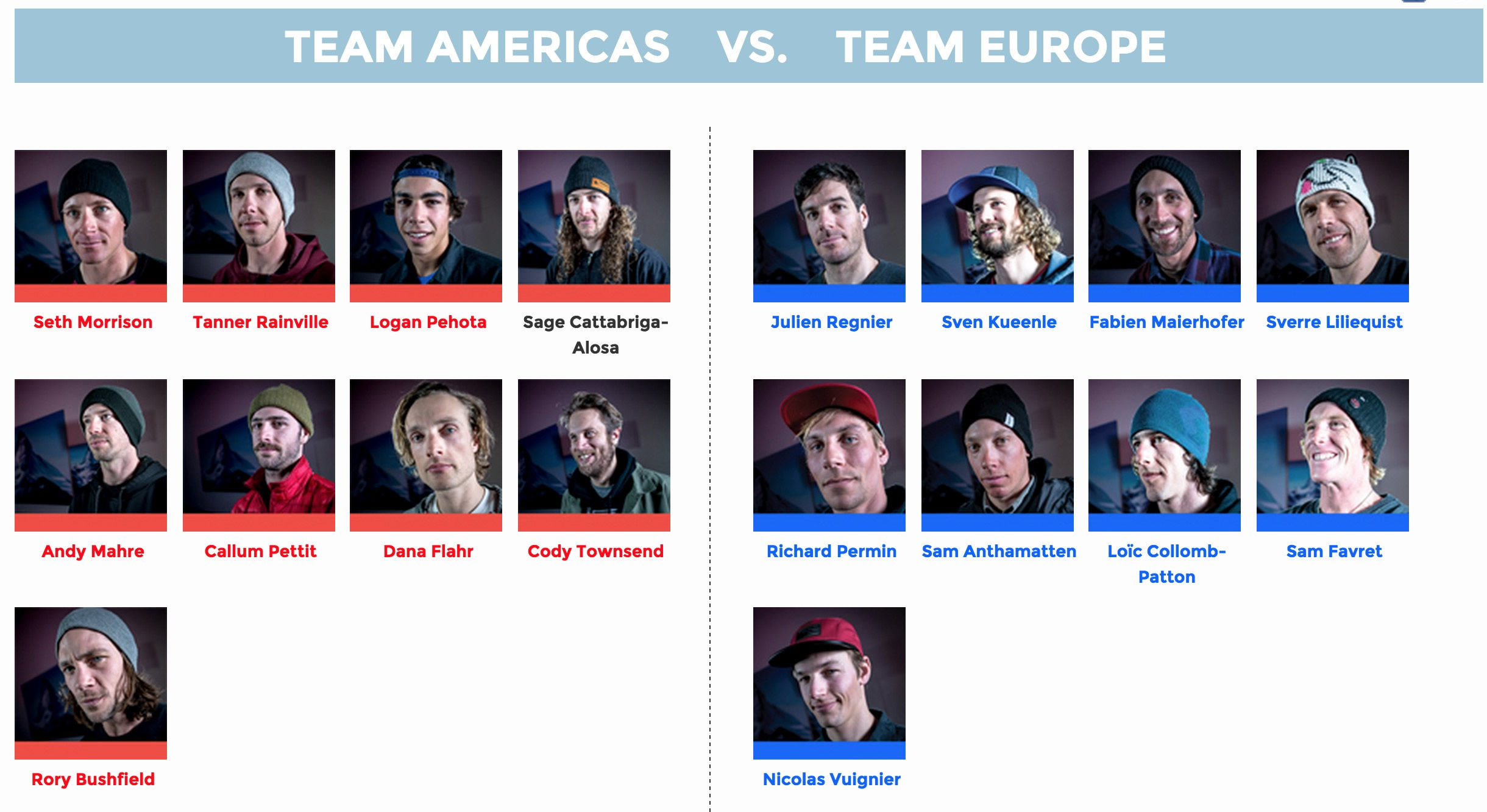Swatch skiers Cup 2015 | Team Americas VS. Team Europe