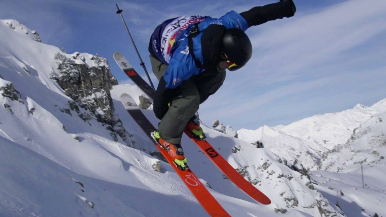 Fresh Powder and Backcountry Freestyle Skiing - Red Bull Linecatcher
