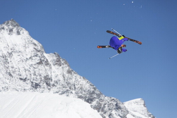 Italian Freeski Team Train At Saas Fee