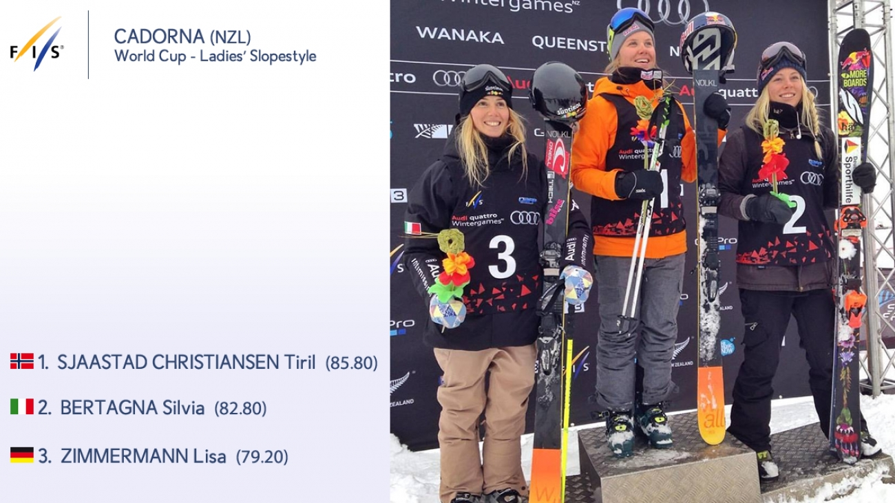 FIS World Cup 2015/16 - Cadorna (NZL) - Podio