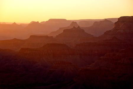 Beautiful picture of the Grand Canyon at sunset