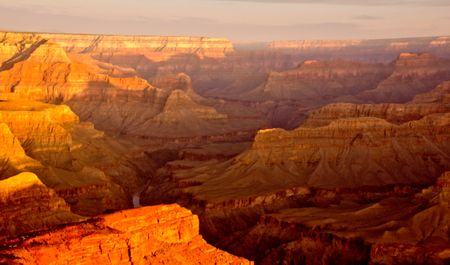 Beautiful landscape shot at the Grand Canyon in Colorado