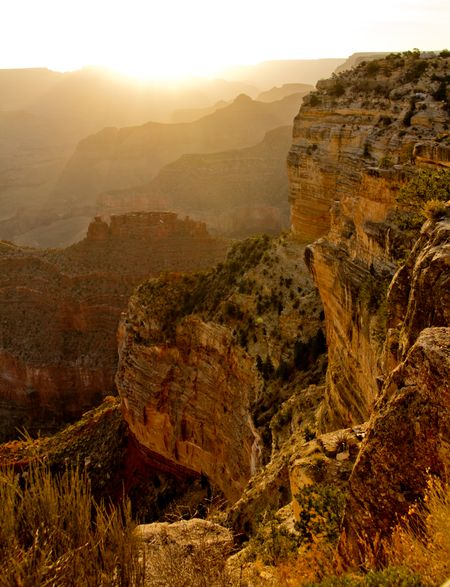 Beautiful picture of a sunset at the Grand Canyon