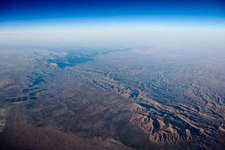 Photograph of earth viewed from the air