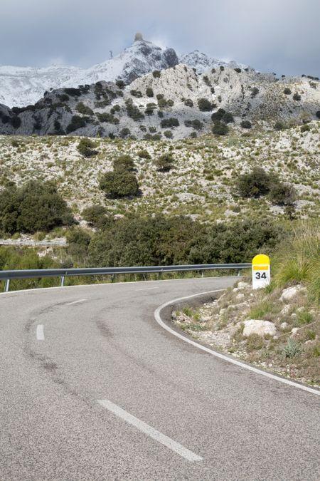 Tramontana Mountains in Winter near Puig Major; Majorca; Spain
