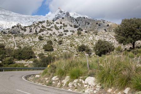 Tramontana Mountains from Road, Majorca, Spain