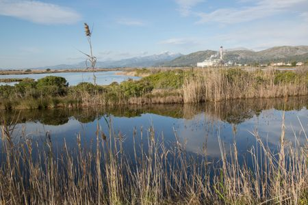Murterar Power Plant with Albufera National Park; Alcudia; Majorca; Spain