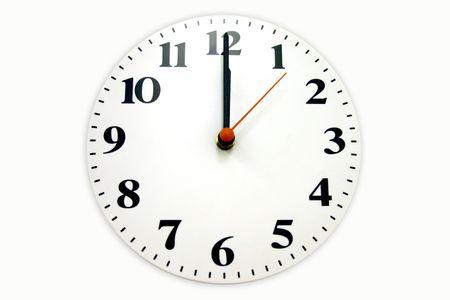 Twelve O'clock on the wall