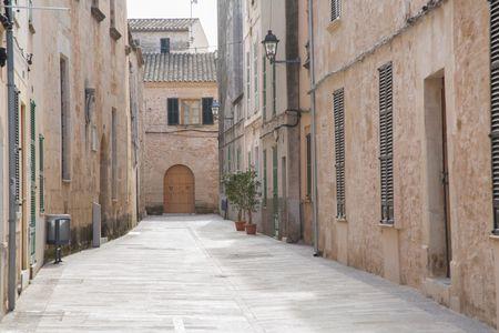 Empty Street; Alcudia; Majorca; Spain