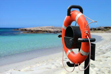 Life Saver in a Beach