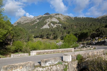Grazalema Mountains with Open Road; Spain