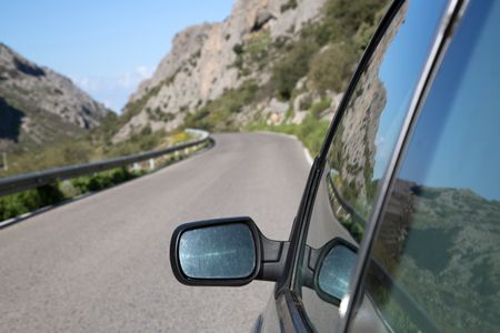 Car Wing Mirror, Grazalema National Park, Spain