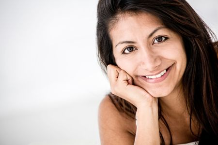 Beautiful portrait of a Latin woman smiling
