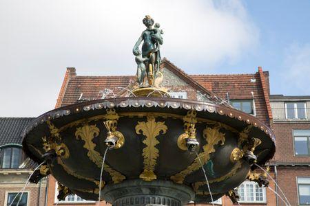 Caritas Well Fountain (1610), Gammeltorv Square, Copenhagen; Denmark