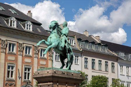 Bishop Absalon Statue, Hojbro Square, Copenhagen, Denmark