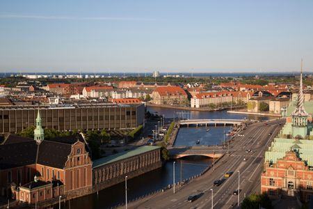 View of Copenhagen; Denmark, Europe
