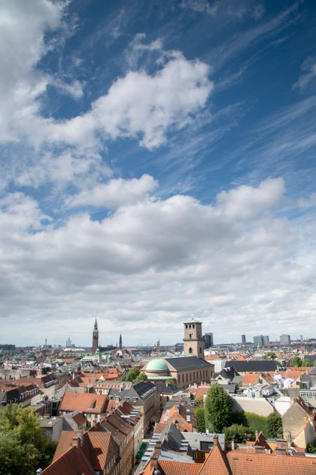 View of Copenhagen including Cathedral; Denmark